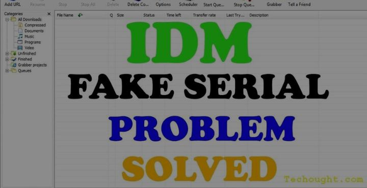 how to remove 'idm has been registered with the fake serial number ' error?